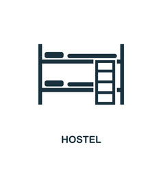 hostel icon monochrome style design from city vector image