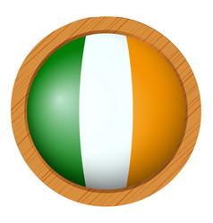 Icon design for flag ireland vector