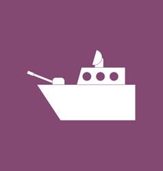 Icon military warship vector