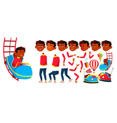 indian boy schoolboy kid amusement park vector image