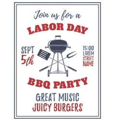 Labor Day barbecue party background vector image