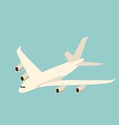 large passenger plane flat vector image