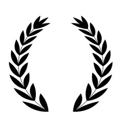 laurel wreath icon vector image vector image