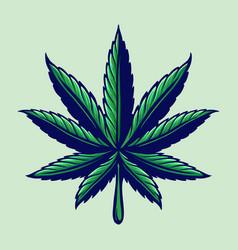 leaf cannabis colorful logo vector image