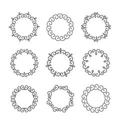 Line design elements for frames and logo templates vector