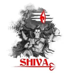 Lord Shiva Indian God of Hindu vector