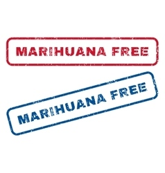 Marihuana Free Rubber Stamps vector