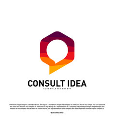 Modern hexagon business consulting agency logo vector