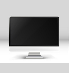 modern personal computer on a table photoreal vector image