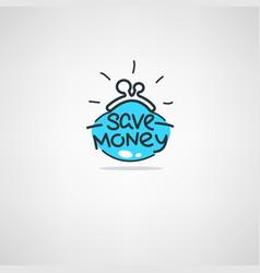 money saving doodle atr icon label emblem vector image