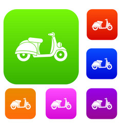 Motorbike set collection vector