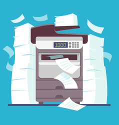 multifunction office printer computer scanner vector image