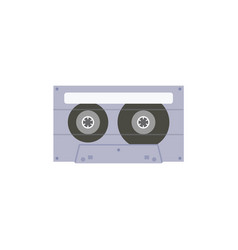 music stereo 80-s and 90-s cassette icon flat vector image