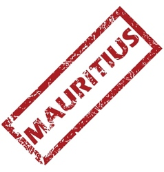 New Mauritius rubber stamp vector