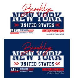 New york brooklyn t-shirt print and apparel design vector
