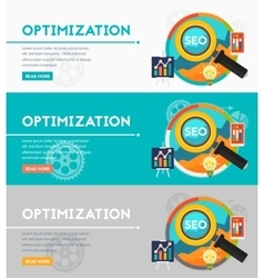Optimization Concept vector image
