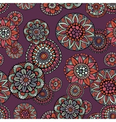 Ornamental vintage fantasy floral seamless pattern vector
