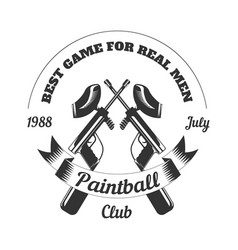 Paintball club sport game paint ball rifle gun vector