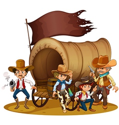 People from wild west vector