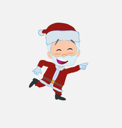 Santa claus running smiling vector