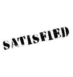 Satisfied rubber stamp vector