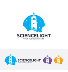 science light logo design vector image