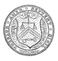 seal treasury department united vector image