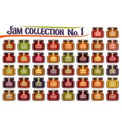 Set different jam jars vector