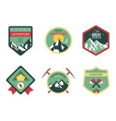Set of vintage woods camp badges and travel logo vector image