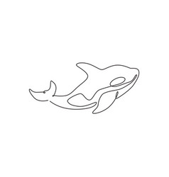 single continuous line drawing big adorable vector image