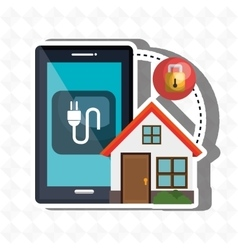 smart home with isolated icon design vector image