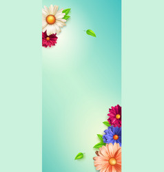 spring flowers floral pattern screen background vector image