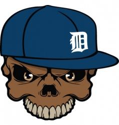 tigers skull vector image