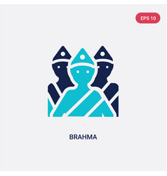 Two color brahma icon from india concept isolated vector