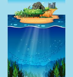 Underwater and island vector