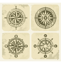 vintage compasses vector image
