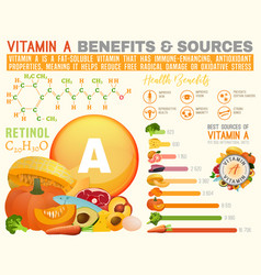 Vitamin a infographic vector