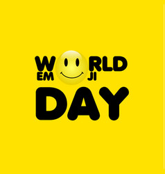 World emoji day template design vector