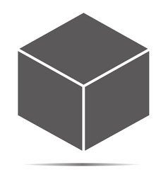 gray cube icon isolated on background modern flat vector image