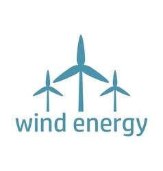 green energy logo wind turbines vector image vector image