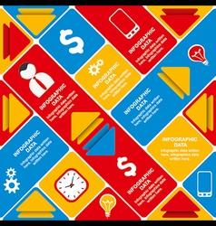 creative business info-graphics design concept vector image
