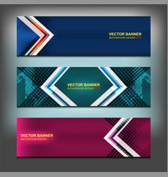 geometric banner design vector image vector image
