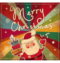Merry Christmad Greeting Card cover vector image vector image