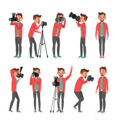photographer photo studio photographer vector image
