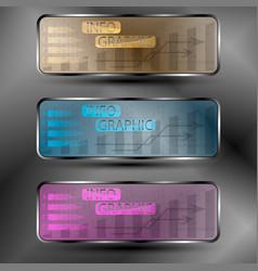 the set of futuristic info graphic vector image