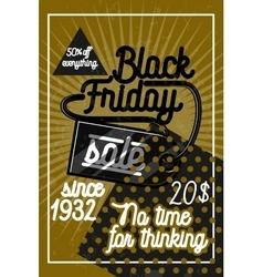 Color vintage black friday sale poster vector