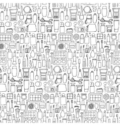 Decorative cosmetics doodle seamless pattern vector image vector image