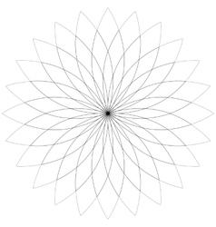 Flower lotus silhouette for design vector image