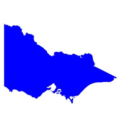 Map of Victoria vector image vector image