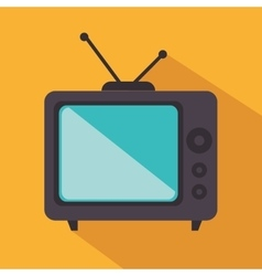 retro tv isolated icon vector image